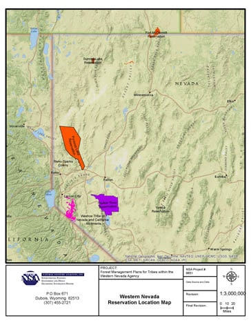 Nevada, USA – Forest Management Plans for Native American Reservations in Western Nevada BIA. NAICS Code – 54690